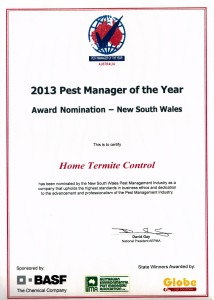 pest controller of the year 2013